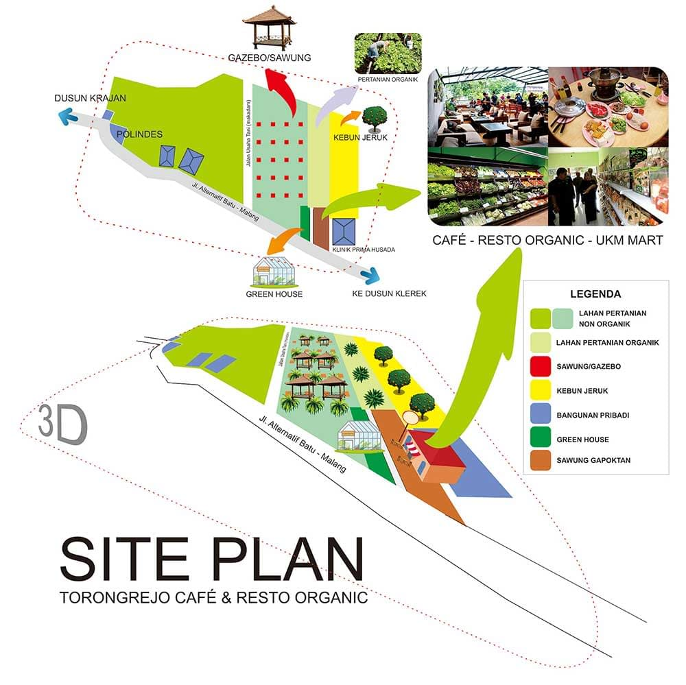 Site Plan Rest Area Saung Tani