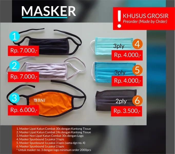 jual masker branding oleh BUMDes Bejo